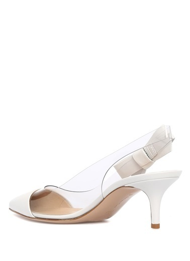 Gianvito Rossi İnce Topuklu Ayakkabı Beyaz